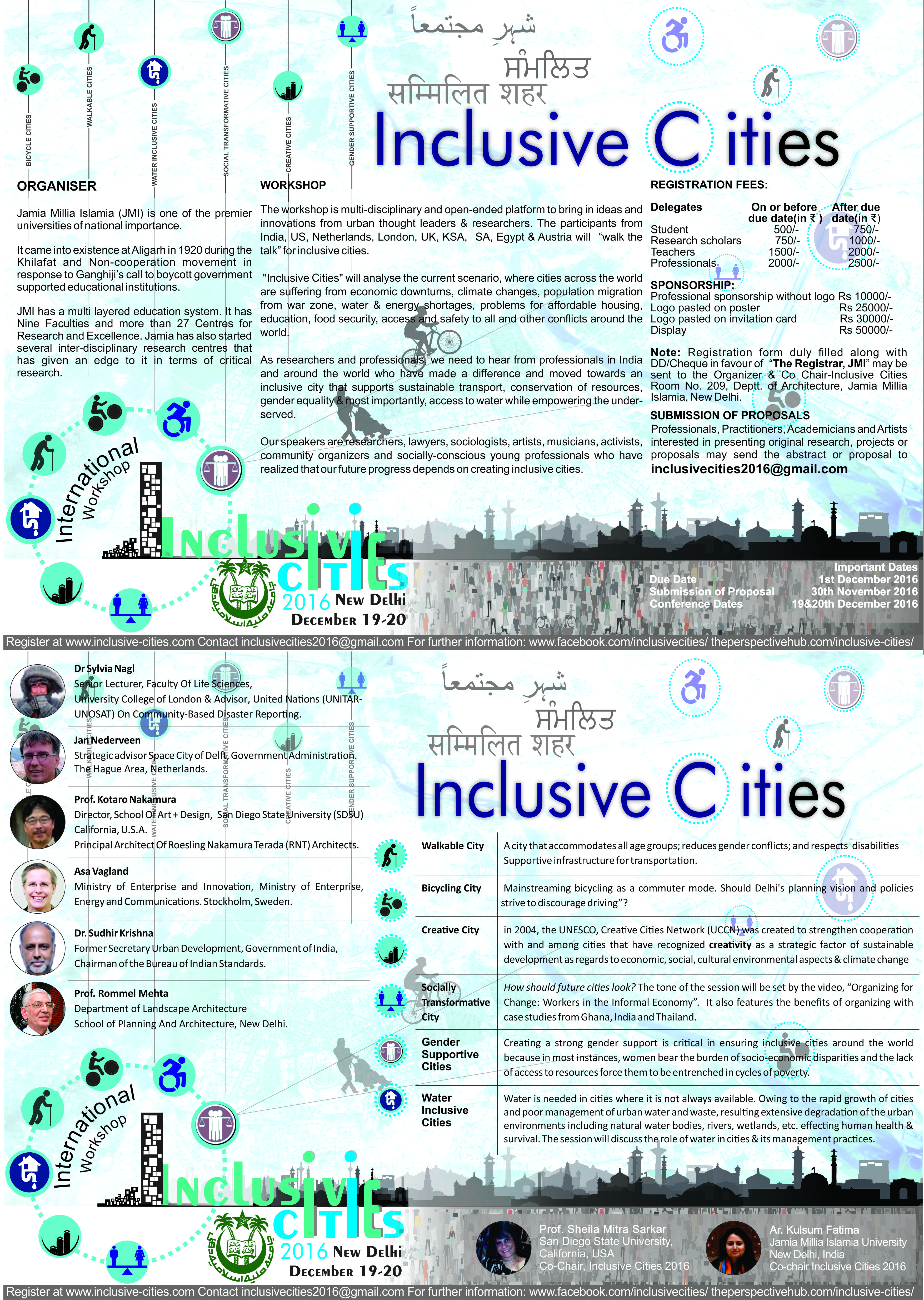 International Workshop on Inclusive Cities 19th & 20th December 2016